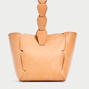 Zara Mini Geometric Bucket Bag